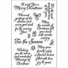 Clear Stamp Merry Christmas Set Craft Card Stamps Scrapbook