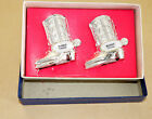 VINTAGE COWBOY BOOTS SALT PEPPER SHAKERS COLLECTIBLE WITH BOX