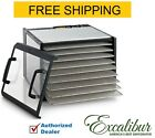 Excalibur D900CDSHD Stainless Steel Clear Door 9 Tray Food Dehydrator w/ Timer
