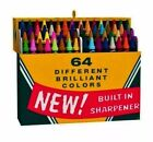 Big Box of 64! 2015 Hallmark Ornament Crayola Crayons  Vintage Box  Colors  Art