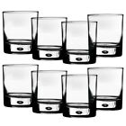 Rocks Glasses 10 oz Bubble Bottomed Old Fashioned Lowball Round Set of 8