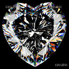 CUBIC ZIRCONIA SUPER QUALITY LOOSE STONES HEART SHAPE CLEAR CZ IN USA SHIPPER