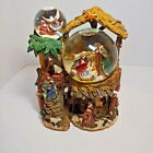 KIRKLAND MUSICAL WATER SNOW 3 GLOBE Nativity Snowglobe Christmas