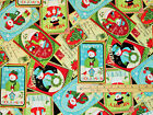 Happy Holidays Snowman Collage Benartex Christmas 100 cotton fabric by the yard