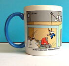 Gary Larson FAR SIDE 1998 Coffee Mug Crabbiness Research Institute Mad Scientist