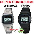 CASIO COMBO DEAL FREE POST FROM SYDNEY RETRO 1 x F91W PLUS 1 X A158WA