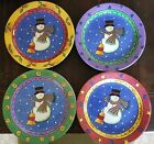 4 Cups/ 4 Dishes Set Sango The Sweet Shoppe Christmas Snowman