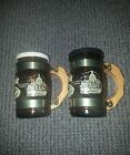 Vintage set of Georgia Mini Mug Glass Salt and Pepper Shakers Retro