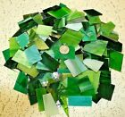 3 LB GREEN TONE Mixed Value Pack Stained Glass Mosaics