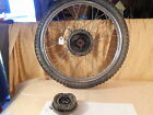T1103 1978 78 YAMAHA DT125 FRONT WHEEL + BRAKE PLATE + SHOES
