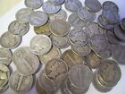 1 Roll of mixed 1940's 90% silver mercury Dimes. $5 Face Value. Mixed Mint marks