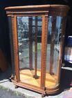 Large Antique Victorian Oak Beveled Glass China Cabinet