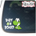 Baby Yoshi BABY ON BOARD Sign Vinyl Car Truck Decal Sticker D3