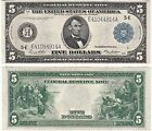 1914 $5 Federal Reserve Note Richmond District FR 863A Almost Uncirculated