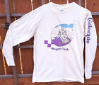 True Vtg-Beaver Creek CO Ski Long Sleeve T Shirt-M-1983-Off White-Mountain Town
