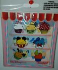 Disney Parks Character Cupcake 7 Pin Booster Pack Set Mickey Minnie Tink SALE