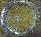GLASS Platter Chop Plate Antique Jeanette Louisa Flora