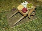 Nativity Scene Village Accessory Market Cart with Dried Grains Food Diorama