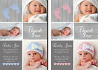 Personalised New Baby Photo Thank You Cards Birth Announcement Folded or Flat