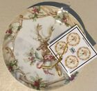 222 Fifth Christmas Lodge Appetizer Plates Dessert Plates Set Of 4 Reindeer