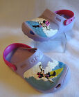 Crocs Youth Kids GIrls Size 2 Minnie Mouse Makin Waves Clogs Purple Disney Shoes