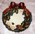 Fitz and Floyd Christmas Wreath Canape Plate