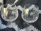 2 Beautiful Lismore Waterford Cut Crystal Brandy Snifters Signed
