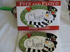 Fitz and Floyd Frosty's Frolic Holiday Sentiment Tray NIB