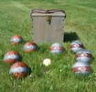 Bocce Ball Set Franklin Outdoor Lawn Games Party Yard Adults Vintage Storage Box