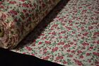 Red Rose Flower Floral Print Quilting Fabric Craft Apparel Upholstery 45 9444B