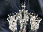 Crystal Glasses Whiskey Set Decanter 21oz and 6 Tumblers 10 oz Bohemian Aurum