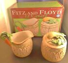 Fitz and Floyd Le Canard Creamer and Sugar Set Carrot Squash Retired NIB Box