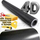 Premium 4d Gloss Carbon Fiber Vinyl Wrap Film Sticker Bubble Free Air Release