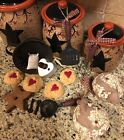 Primitive Country Lot 15 Kitchen Hanging ORNAMENTS Tree Decor Muffin Star Wreath