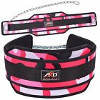 ARD CHAMPS Neoprene Weight Lifting Dipping Belt Exercise Belt Fitness Pink Camo