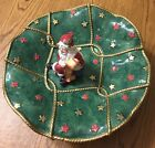 Fitz and Floyd Santa's List Compote Christmas Large Centerpiece Bowl From 1995.