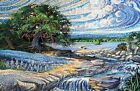 DREAMSCAPES NORTHCOTT FABRIC DIGITAL PANEL 14 BY 21 IN DP21295 TREE