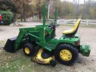 John Deere 455 compact tractor with Loader