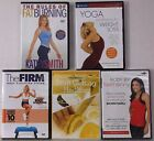 Lot of 5 Workout  Health DVDs Fitness Exercise Fat Burning Weight Watchers Yoga