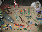 JP Large Lot of Jurassic Park toys, figurines, vehicles, weapons, pinball, cards