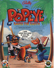 1994 BALLY MIDWAY POPEYE SAVES THE EARTH PINBALL FLYER