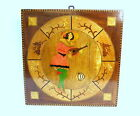 Art Deco Wood picture Picture with Inlaid painted France Switzerland um 1900