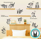 Cartoon Home Decor Wall Removable Sticker Vinyl Cute Cheese Cat Chis Sweet Home