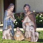 Life Size Christmas Nativity Scene on 5 ft by 5 ft 13 ounce vinyl