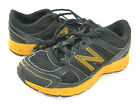 BOYS GIRLS KIDS YOUTH NEW BALANCE BLACK SHOES SNEAKERS SZ 12 USED