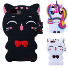 Cartoon 3D Cute Rubber Silicone Soft Kids Case Cover For Samsung Galaxy Phones