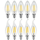 5pc E12 Bulb LED 2W 4W 6W Dimmable Light Candelabr COB Filament Candle Lamp 110V