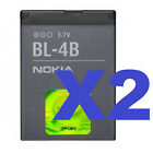 2x Nokia BL 4B OEM Battery 2660 2605 2760 6111 7500 7373 2600 Mirage 7510 N76