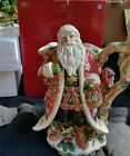 Fitz and Floyd Christmas Lodge Santa Pitcher Original Box Retired