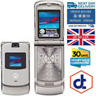 Motorola RAZR V3 Unlocked flip Mobile Phone Boxed Colours Red Pink Gold